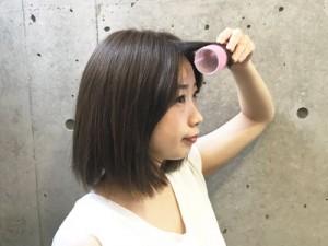 【シースルーバングの作り方】ホットカーラー×ドライヤーで前髪をクセづきやすく!