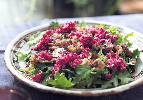 ラム肉サラダで代謝を上げる