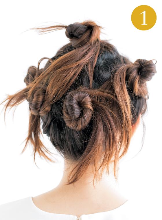 ハネやうねりを味方につけたゆるふわまとめ髪