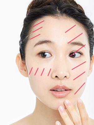 頬の毛穴が開きがちなニキビができやすいオイリー肌のスキンケア