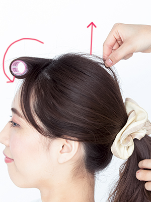 ひとつ結びは前髪で差をつける