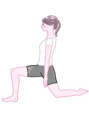 脚線のゆがみに効果的な下半身ストレッチ