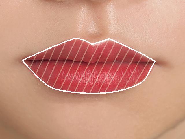 しわしわの唇を美しいリップに