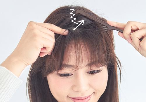ストレートロングヘア×前髪あり|曖昧センターパート