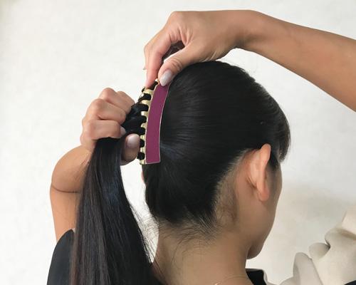 ラブクロムのコームで作る大人のまとめ髪