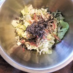 ビューティー食材「キャベツ」をつかった【キャベツとみょうがの塩昆布サラダ】