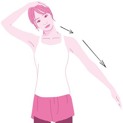 首筋の筋肉を緩めるストレッチ
