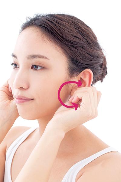 炭酸泡プラス耳周りをぐるぐるマッサージ
