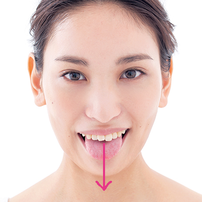 舌を使った顔筋トレーニング