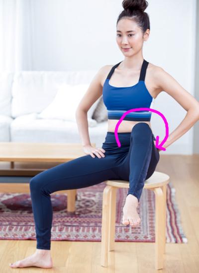 股関節をほぐすエクササイズで左右対称のくびれを作る