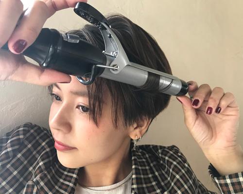 マンネリがちな直毛ショートヘアに変化をつける
