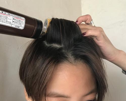 【1】前髪&トップのボリュームを足す