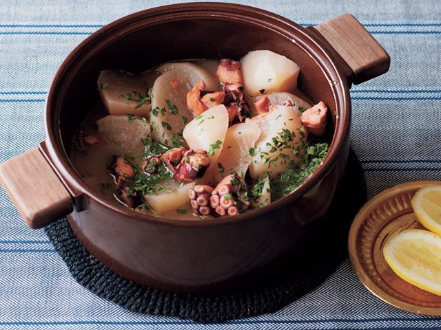 大根とタコのアンチョビ煮