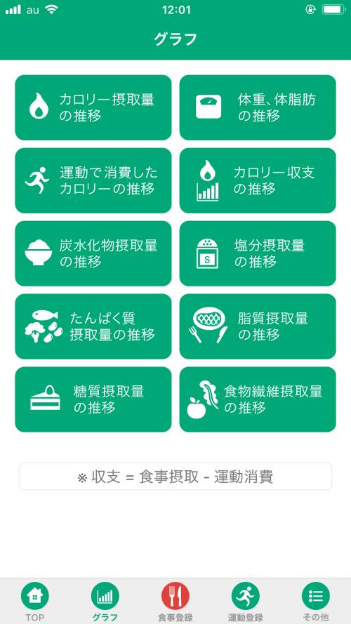 無料で使える食事管理アプリ