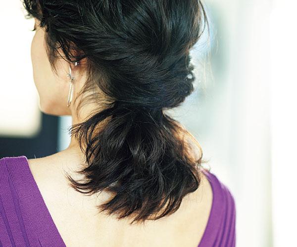 柔らかい髪質でもボリューミーにまとまる