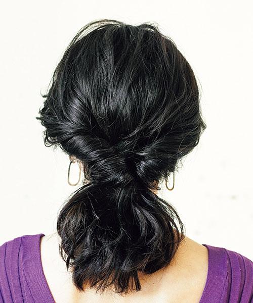 柔らかい髪×くるりんぱ=ほぐしてふんわり