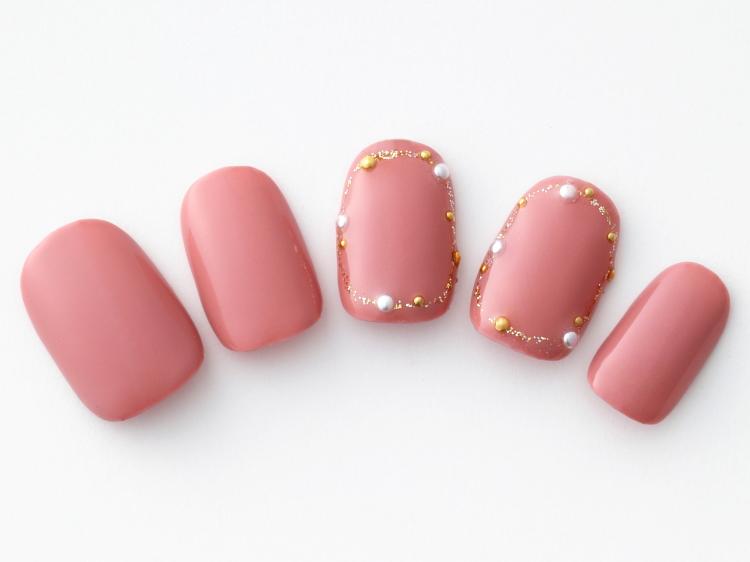 大人なローズピンクがかわいい
