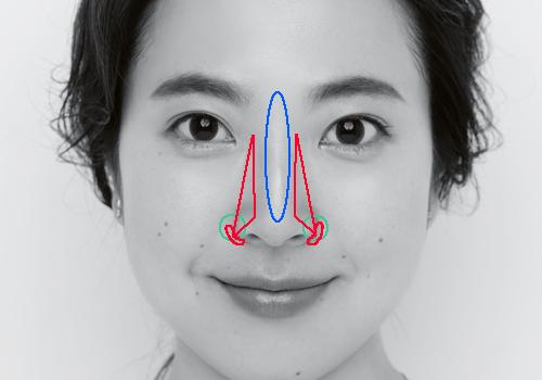 どっしり鼻を美人鼻に見せるメイク術