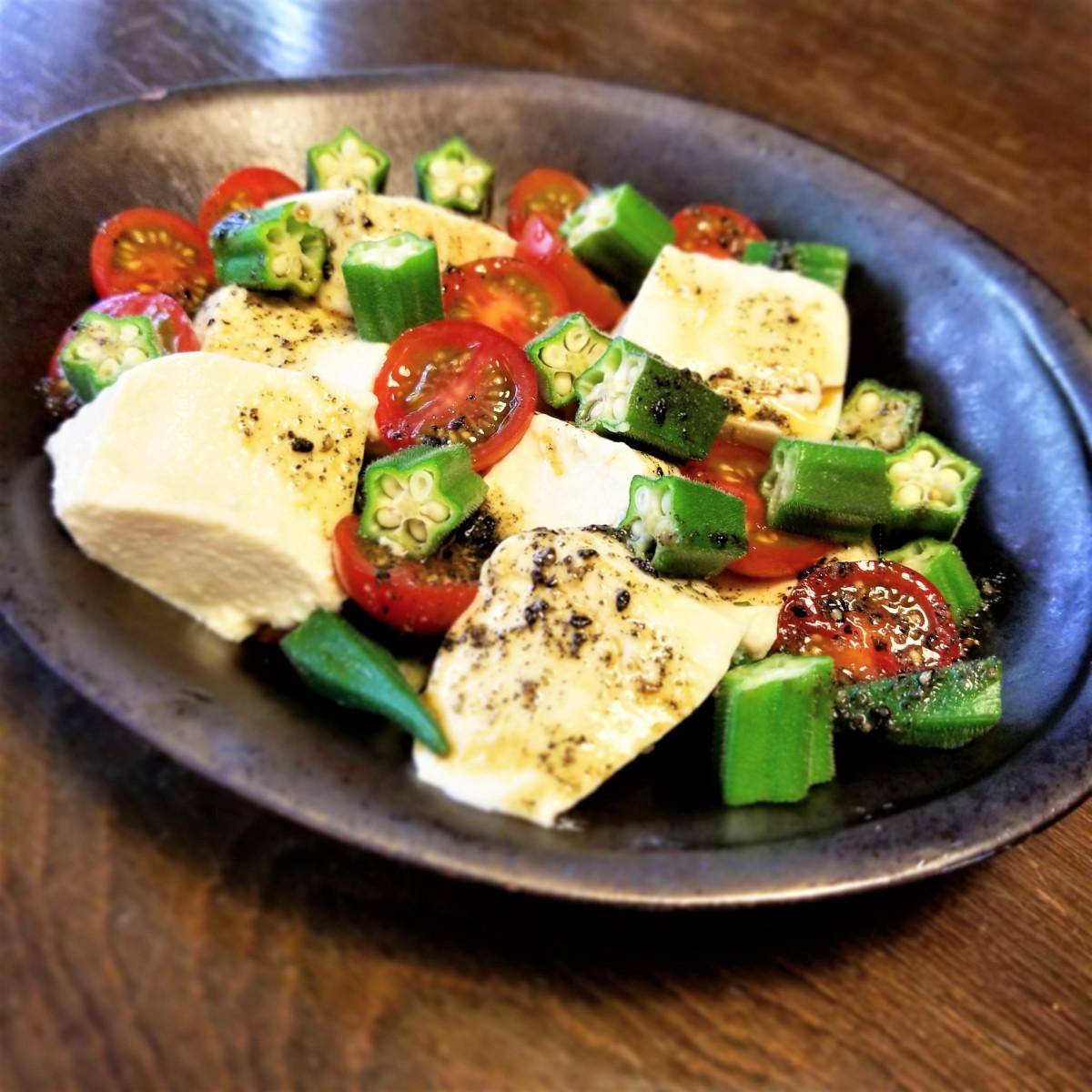 中華風豆腐サラダ