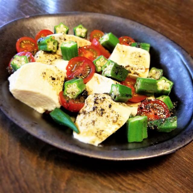 黒酢|中華風豆腐サラダ