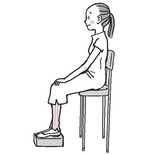 自分に合った椅子を調整してゼロポジ座り