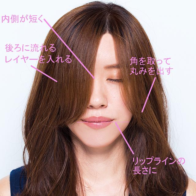 重めワンレン→軽やか前髪で「かっこいい色気」ヘアにイメチェン!