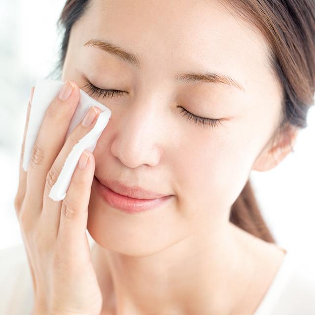 ほてった肌に水分吸収を助ける