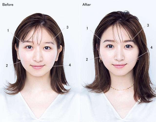 すっぴん風メイク(Before→After)