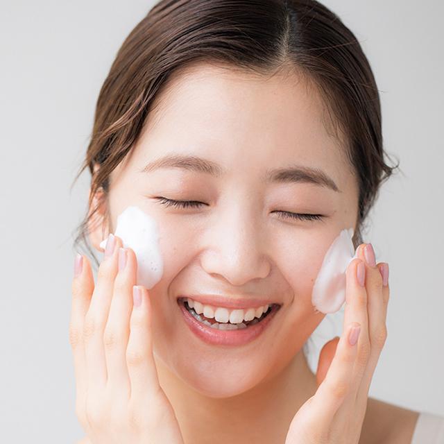 摩擦レスな洗顔と優しいマッサージ