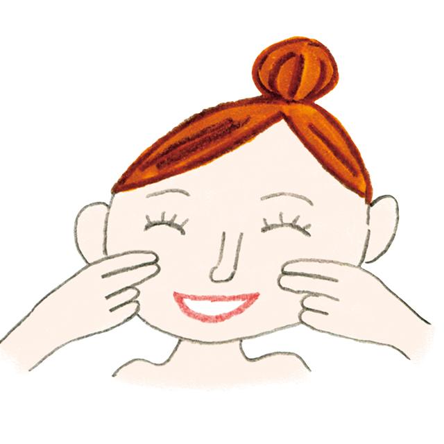 笑顔筋を鍛えるエクササイズで垂れた顔をグッと上げる