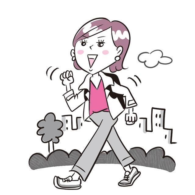 有酸素運動で腸を軽く刺激して、ぜん動運動をスムースに!