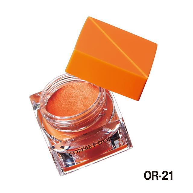 【プチプラシングルアイシャドウ ランキング1位】コフレドール|3Dトランスカラー アイ&フェイス OR-21