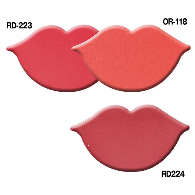ピュアリーステイルージュ PK-312、RD-233、OR-118、RD-224、PK-313、BE-234、RS-338