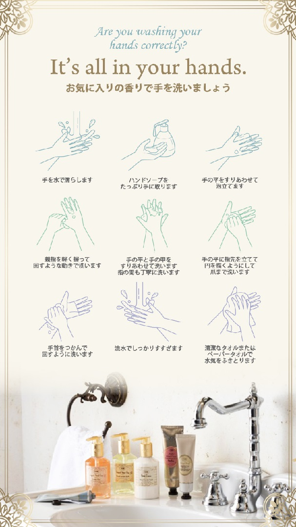 SABONが教える基本の手洗い法