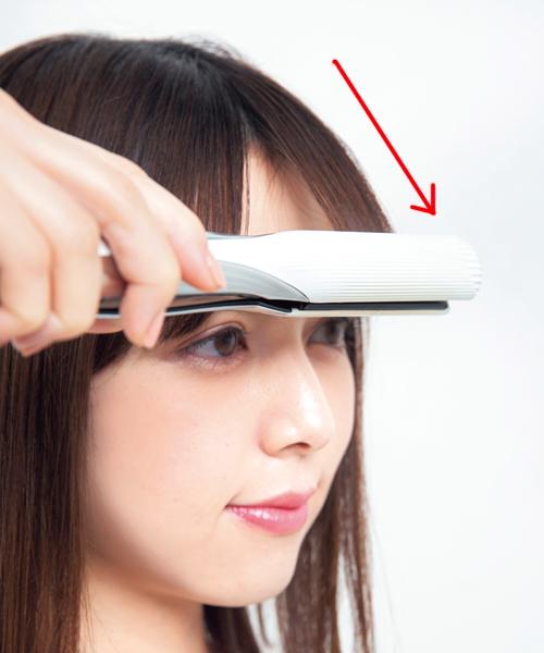 透け感のあるまっすぐな前髪の作り方