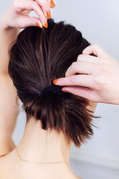 ミディアムヘアのリラックスアレンジ