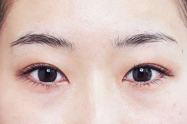 【5】起きた状態で眉の仕上がりを確認