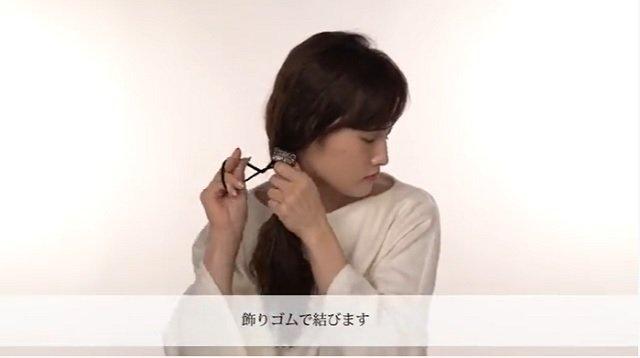【4】小ワザが光るボヘミアン風の細3つ編み