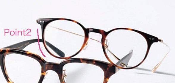あえての丸メガネを「Point2」