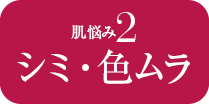 肌悩み2 シミ・色ムラ